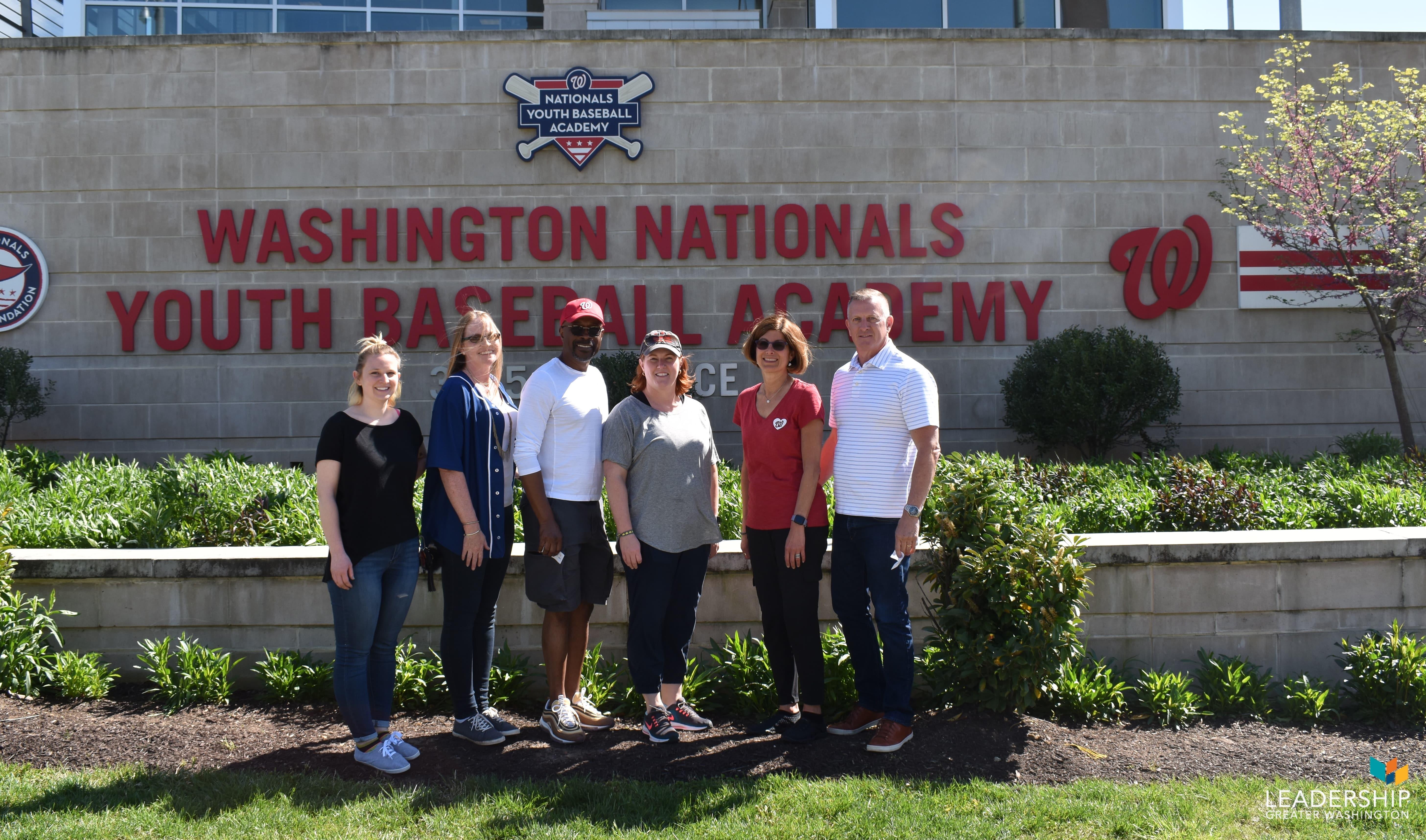 Leadership Greater Washington volunteers at Washington Nationals Youth Baseball Academy
