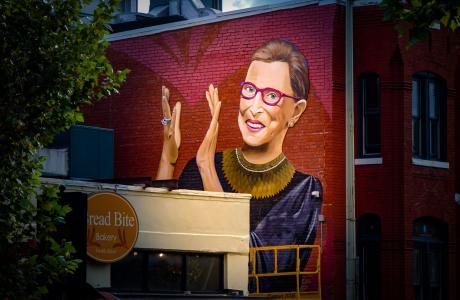 ruth bader ginsburg mural